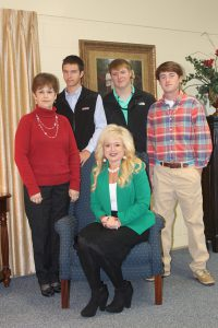 Tracey Grady, seated - Cathy Teague, Alex Hinson, Kyle Cooke, Drew Grady - standing